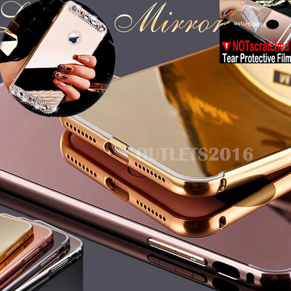 $4.15 - Luxury Aluminum Ultra-thin Mirror Metal Case Cover for Apple iPhone 6 6s Plus