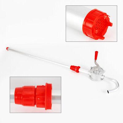 Manual Hand Crank Rotary Pump Oil Fuel Transfer Suctin Drum Barrel 55 Gallon Usa