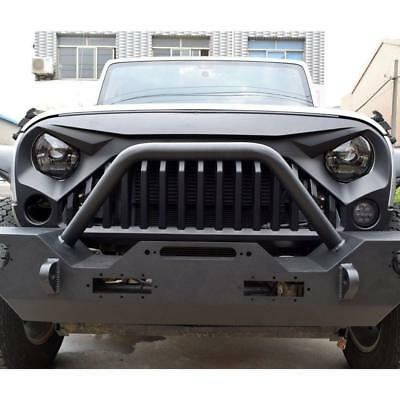 FRONT MATTE BLACK ANGRY BIRD GRILL FOR 2007-18 JEEP WRANGLER JK & UNLIMITED