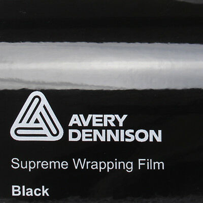 20,75€/m² Avery Supreme Wrapping Film Gloss Black Autofolie Schwarz Glanz Folie