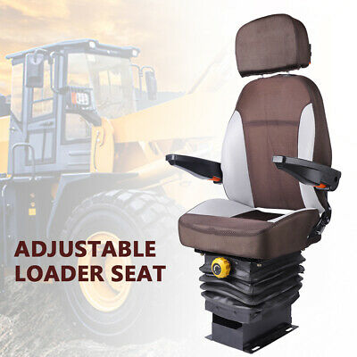 Open Designed Tractor Seat Suspension Foldable Armrest Dozer Skid Steer Seat New