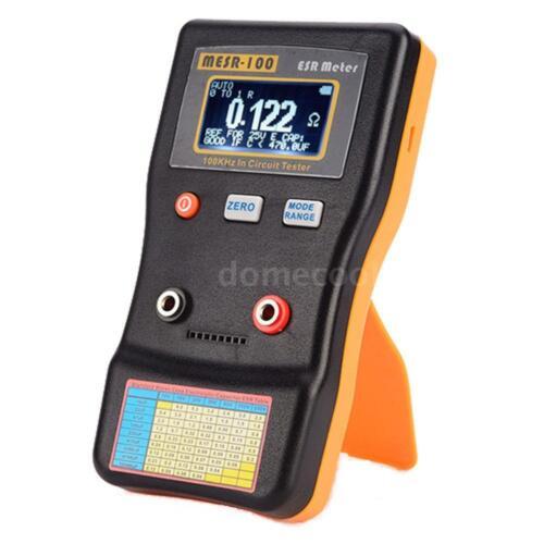 MESR-100 ESR Low Ohm Meter Capacitance Resistance Capacitor In Circuit Tester