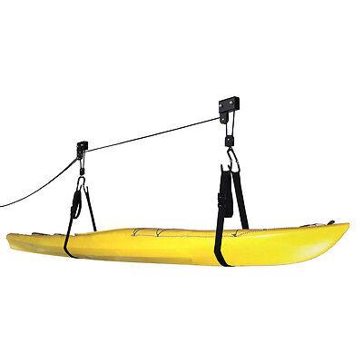 Rad Cycle Kayak Lift Hoist Garage Ladder Canoe Hoists  125 Lb Capacity New