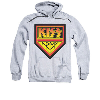 Army Logo Hooded Sweatshirt - KISS ARMY LOGO Licensed Adult Pullover Hooded Band Sweatshirt Hoodie SM-3XL