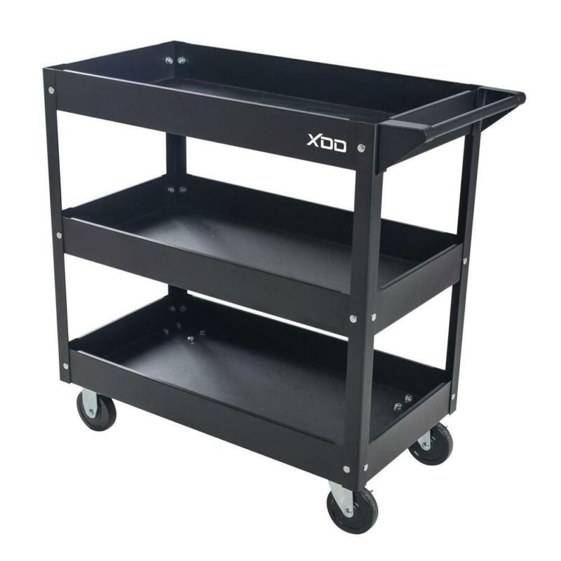 """29"""" 3 Tray Drawer Rolling Tool Utility Cart Side Handle 165"""
