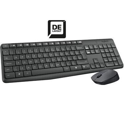 Logitech MK235 Wireless Tastatur Maus Funk Kabellos Combo Set Deutsches Layout