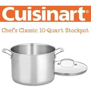 NEW CUISINART 76610-26G Chefs Classic 10-Quart Stockpot Condition: New