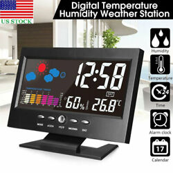 US 8082T Projection Digital Alarm Clock Snooze Weather Thermometer LCD Display