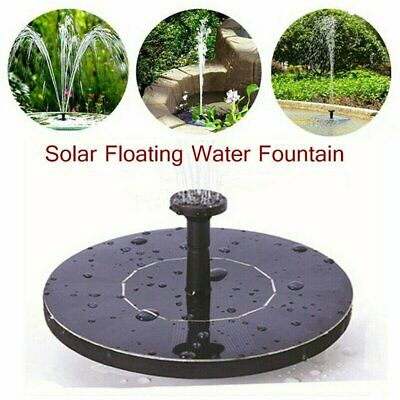 UK 210L/h Solar Panel Power Water Feature Pump Floating Pool Aquarium Fountain