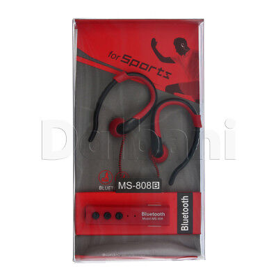 Red Portable Bluetooth Sport Earphones Red for Android Devices