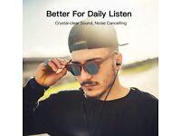 In-Ear Headphones Earphones Metallic Stereo Headset Earphones with Earbuds and Mic