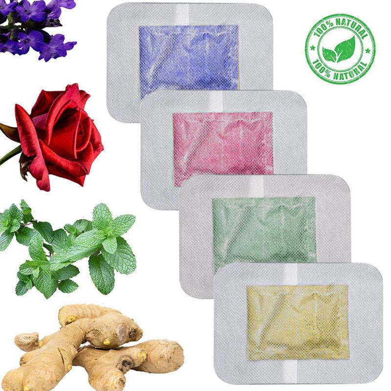 8-20 Pack Premium Herbal Ginger Detox Foot Pads Health Care Detox Patch