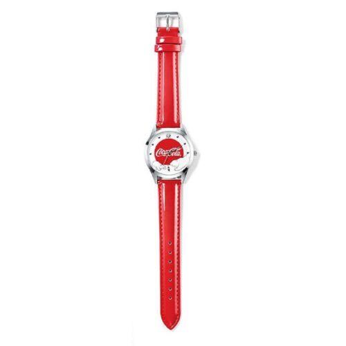 Coca-Cola Red Polar Bear Watch Coke Collectable AVON Christmas 9 inch Silvertone
