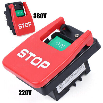 220v-380v Industrial Large On Off Push Button Switch W Emergency Stop Cover New