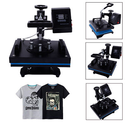 12 X 10 Digital Heat Press Machine For T-shirts Garments Bags Mouse Mats