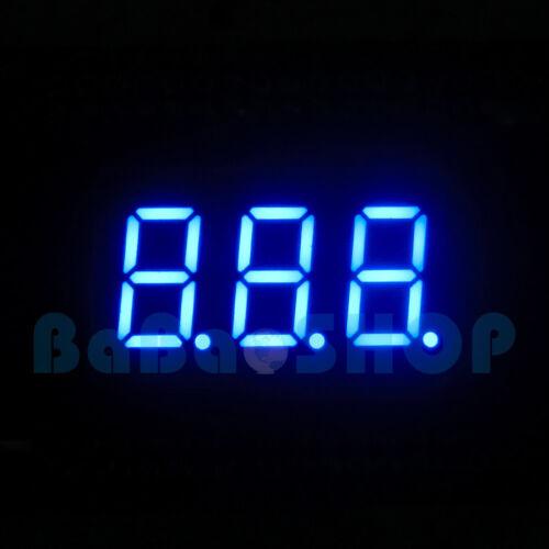 "5pcs New 0.36"" 0.36 inch 7 Segment Display Blue LED 3 Digit Common Cathode"