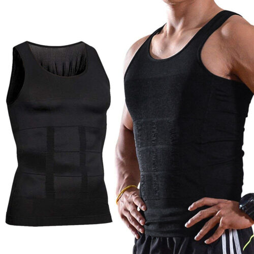 Mens Body Shaper Slimming Shirt Tummy Waist Vest Slim Compression Tank Clothing, Shoes & Accessories
