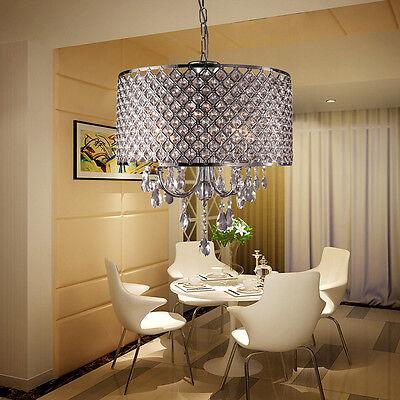 Kristall Kronleuchter Hängelampe Deckenlampe Lüster Pendelleuchte Lampenschirm (Kristall-pendelleuchte)