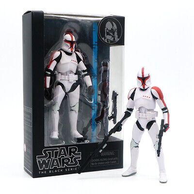 "Star Wars Black Series Imperial Clone Trooper Capatin 6"" PVC Action Figure Model"