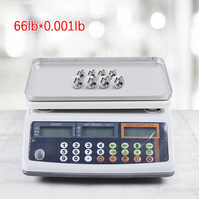 Precision Digital Tabletop Weighing Counting Scale 30kg Weighing Balance Usa