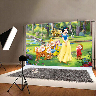 7*5ft Snow White Princess  Photo Backdrop Birthday Party Photography Girls Decor ()