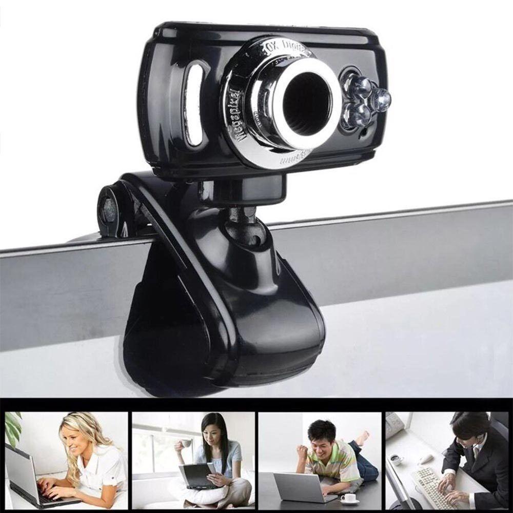 Full HD USB 50.0M Webcam Videokamera mit Mikrofon für PC Laptop Skype