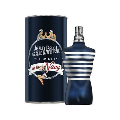 Jean Paul Gaultier Le Male In The Navy 125ml EDT Spray New Dented Tin