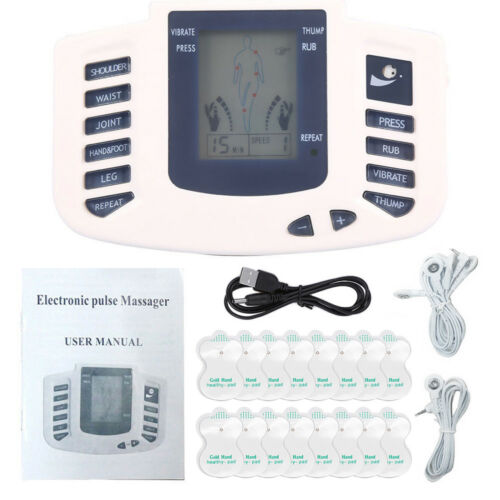 New Tens Unit Tens Massager Electrical Stimulation Muscle Therapy Pain Relief US Health & Beauty
