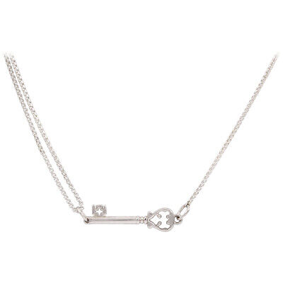 Alex And Ani Skeleton Key Pull Chain Necklace Sterling Silver PC14SPN07S