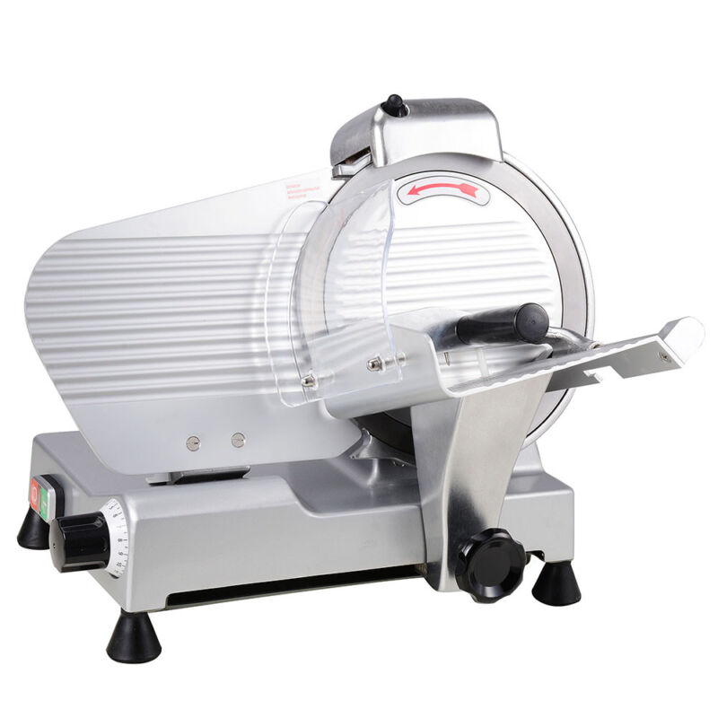 "10"" Blade Commercial Meat Slicer Deli Cheese Food 530RPM Electric Cutter Kitchen"