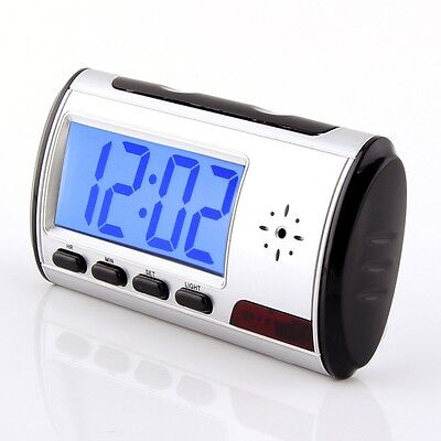 Wireless Spy Table Hidden RC Alarm Clock DVR Camera Record Motion Detection on Rummage