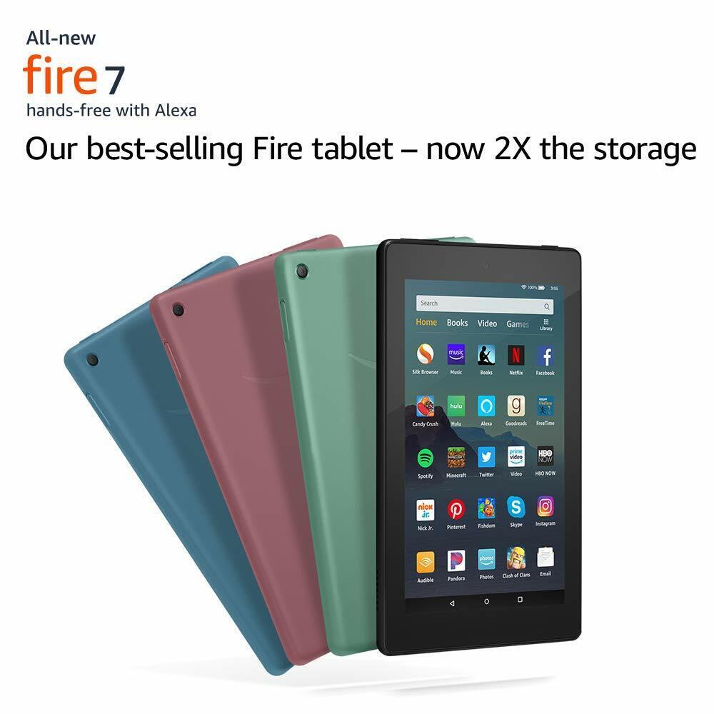 "Amazon Fire 7 Tablet with Alexa, 7"" 16 GB 2019 latest - Blac"