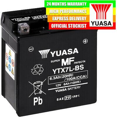 GENUINE YUASA YTX7L BS HIGH PERFORMANCE AGM MOTORCYCLE BATTERY COMBIPA
