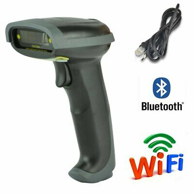 Usb Bluetooth Wireless Wired Barcode Scanner Automatic Laser Scan Gun Pos Reader