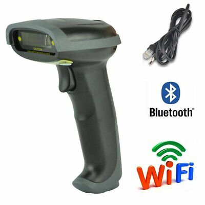 Usb Bluetooth Wireless Wired Barcode Scanner Automatic Laser Scan Gun Pos Reader