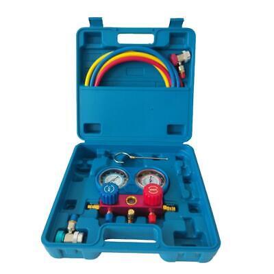 R134a Manifold Gauge Set Ac Ac 5ft Colored Hose Air Conditioner W Case