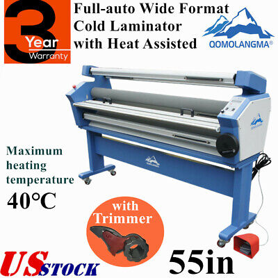 Us 55in Full-auto Wide Format Cold Laminator With Heat Assisted Trimmer