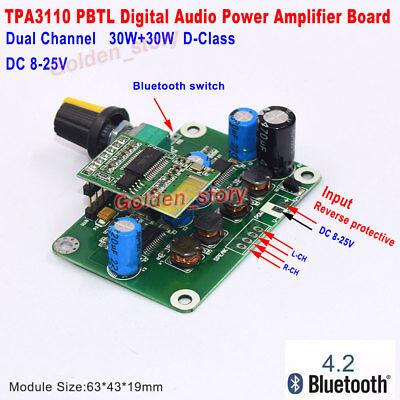 30w Audio Power Amplifier (TPA3110 2x30W Digital Stereo Audio Power Amplifier Board DIY Bluetooth Speaker )