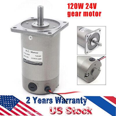 1pc Dc Gear Motor Ac24v 0-1800 Rpm Permanent Electric Generator Motor 120w Top