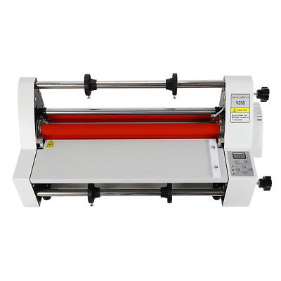 Used V350 Hot Cold Roll Laminator 13 350mm Singledual Laminating Machine 110v