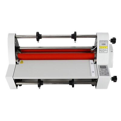 New Industrial V350 350mm Laminating Machine Hot And Cold Roll Laminator 110v