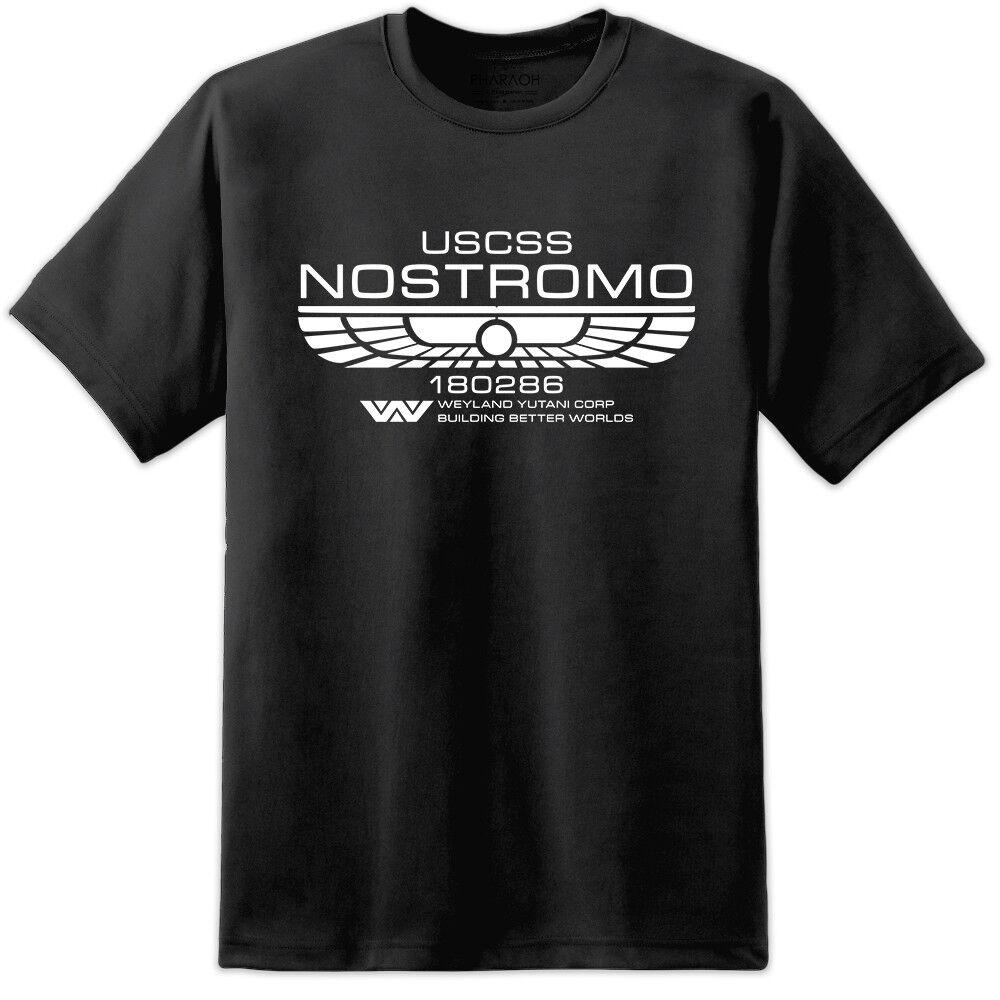 Alien USCSS Nostromo Retro Movie T Shirt Ripley Horror Aliens Sulaco