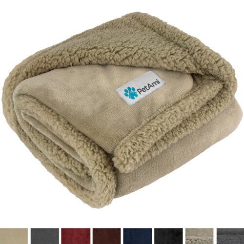 Washable Pet Blanket Fleece Dog Cat Bed Soft Sherpa Reversible Dog Blanket Warm