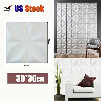 Picture Frame Home Decor 3D Brick Stone PVC 3D Wall Sticker Panel Wallpaper Living Room Decor 12PCS