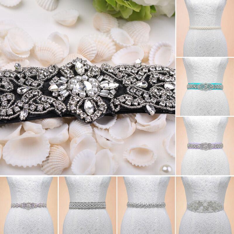 Exquisite Sash Rhinestone Wedding Bridal Belts for Bride Bridemaid Party Dresses