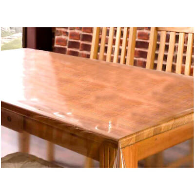 Clear PVC Vinyl Oilcloth Tablecloth Table Protector Waterproof Covering