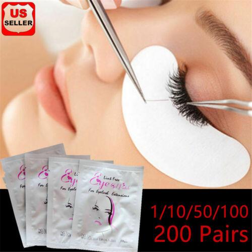 Under Eye Gel Pad Patch Lint Free Eyelash Extension Tape Eyelash Pads 50/200pair Eyes