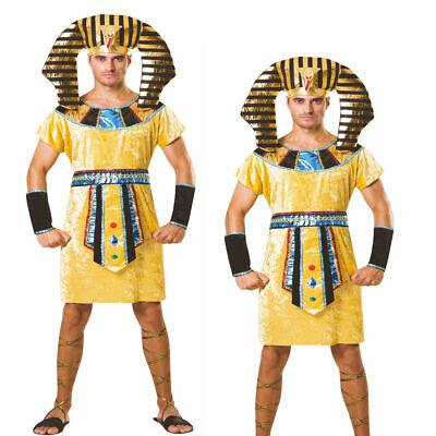 Erwachsene Ägyptische König Kostüm Pharao Antike Griechische Herren Outfit Neu