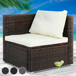 garden patio polyrattan corner sofa lounge back cushions. Black Bedroom Furniture Sets. Home Design Ideas