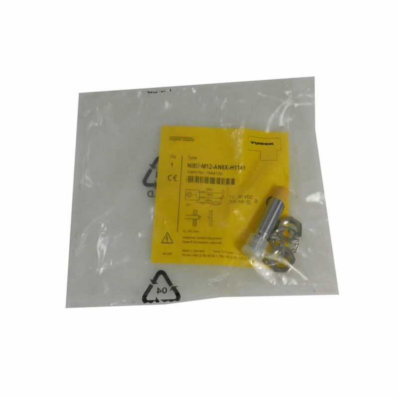 NEW Turck NI8U-M12-AN6X-H1141 Proximity Sensor 10 To 30 VDC IP67 M12 Threaded